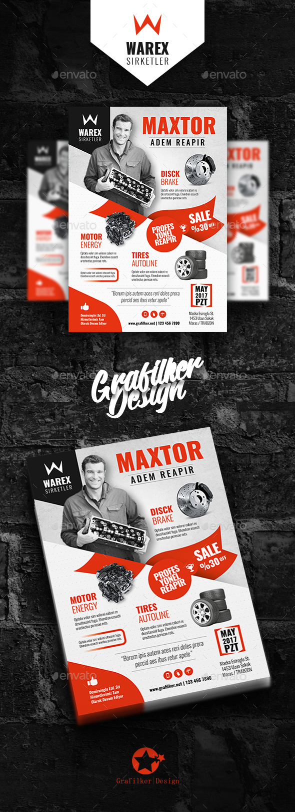 Automobile Part Flyer Templates - Corporate Flyers