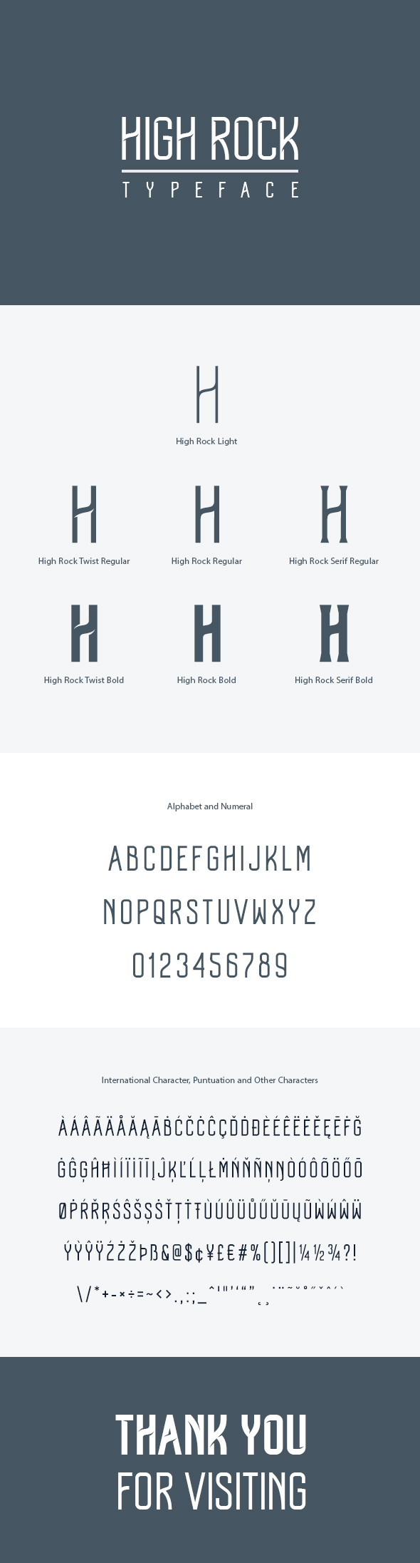 High Rock Typeface - Miscellaneous Decorative