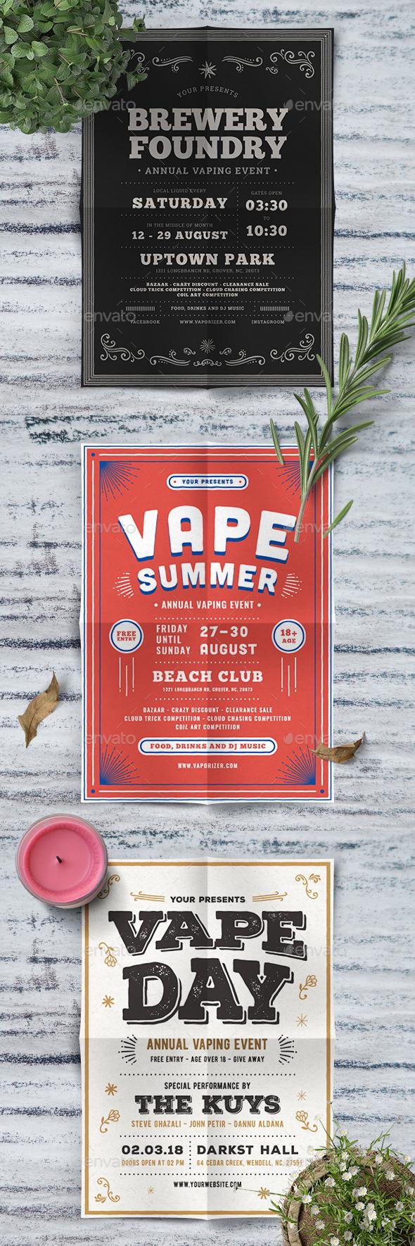 GraphicRiver Vape Event Flyer Bundle 20481268