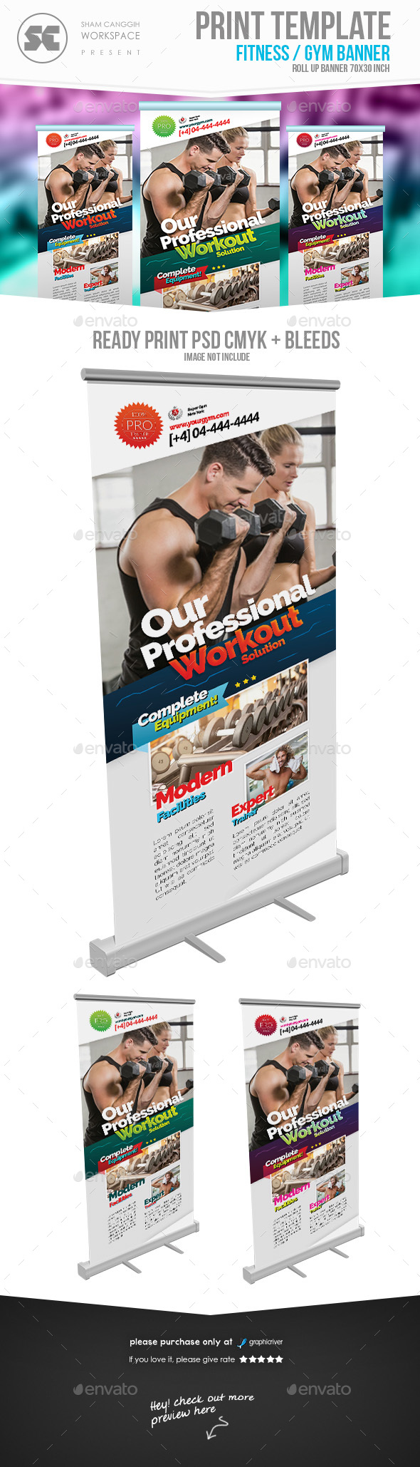 Fitness Gym Banner - Signage Print Templates