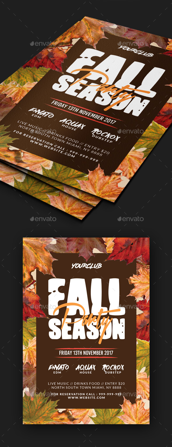 Fall Party Flyer - Clubs & Parties Events
