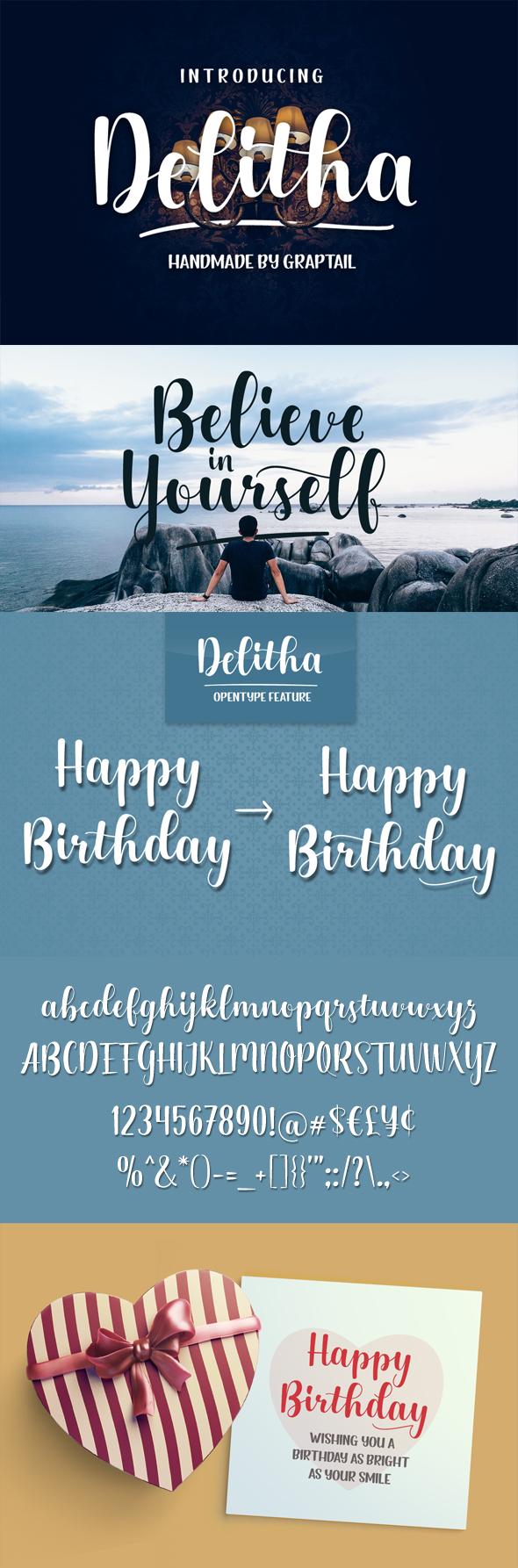 Delitha Scirpt - Script Fonts