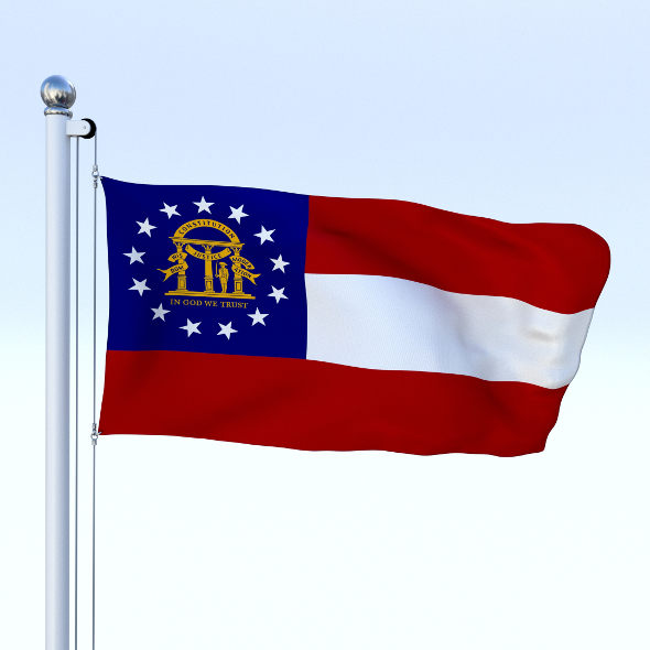 Animated Georgia Flag - 3DOcean Item for Sale