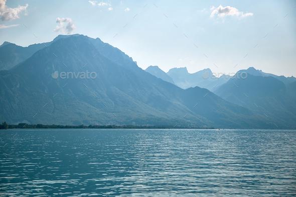 Geneva lake, Switzerland - Stock Photo - Images