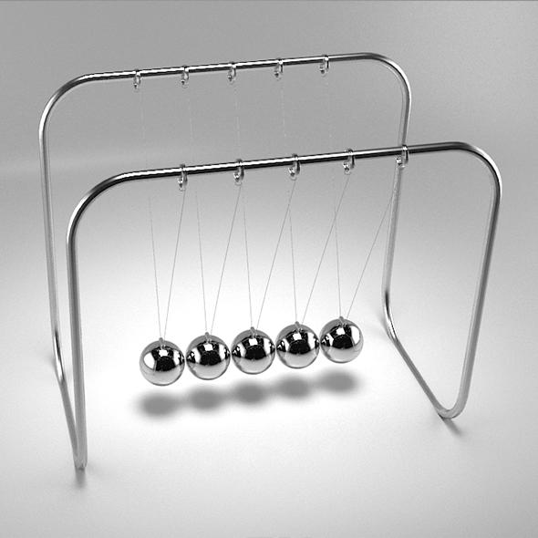 newtons cradle - 3DOcean Item for Sale