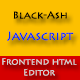 BLACK-ASH - JavaScript Front-end HTML Editor