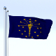 Animated Indiana Flag - 3DOcean Item for Sale