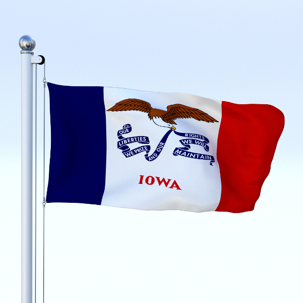 Animated Iowa Flag - 3DOcean Item for Sale