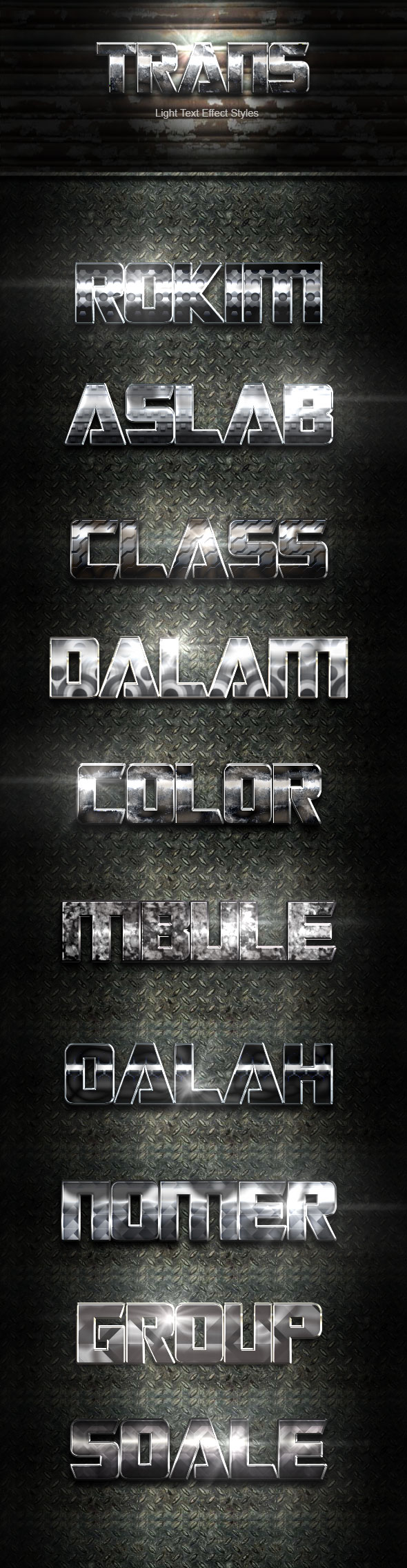 GraphicRiver Trans Silver Text Effect V02 20481787