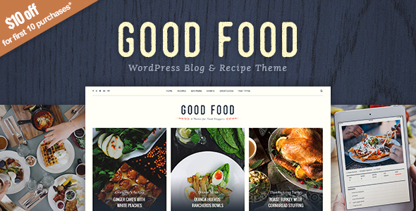 Great Meals – Recipe Magazine &amp Meals Blogging Theme (Meals)