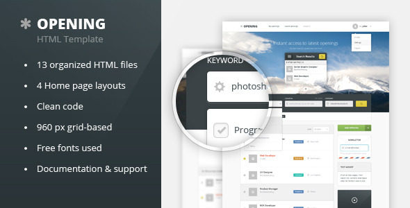 Opening - Job Board HTML Template - Site Templates