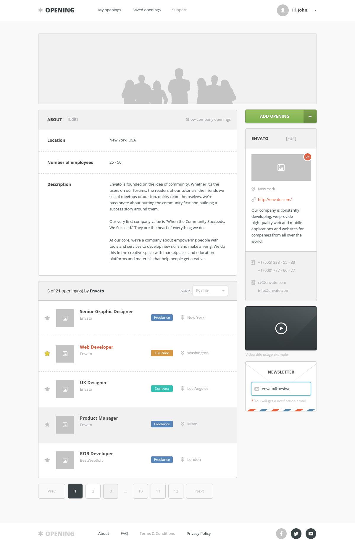 opening job board html template by bestwebholding themeforest