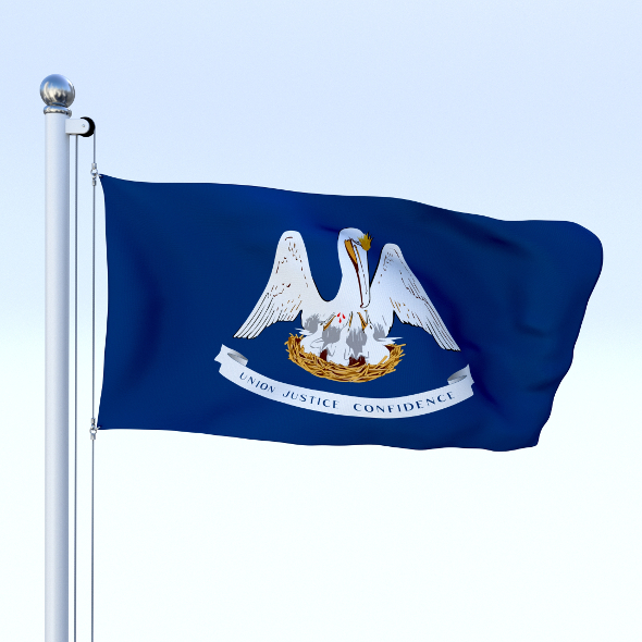 Animated Louisiana Flag - 3DOcean Item for Sale
