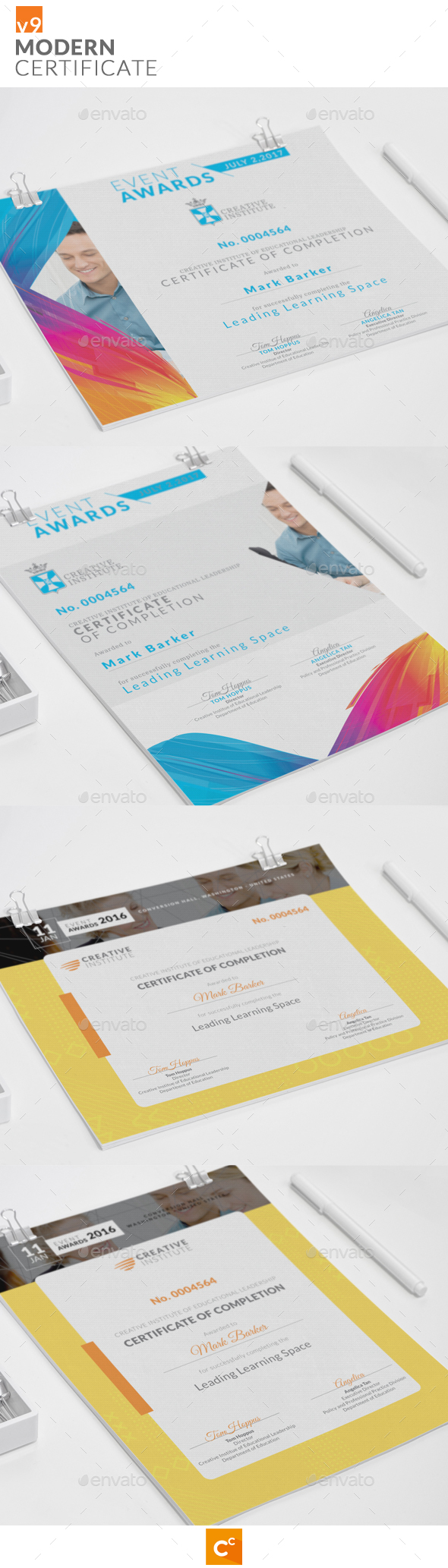 Modern Certificate v9 - Certificates Stationery