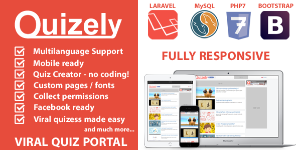 Quizely - Facebook Viral Quiz Script ← Laravel-VueJs com