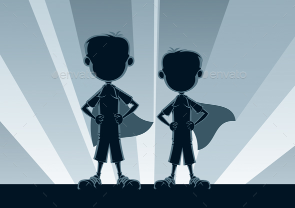Super Boys Silhouettes - People Characters