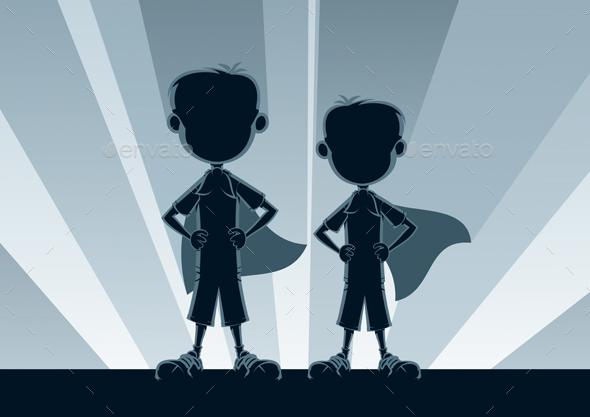 GraphicRiver Super Boys Silhouettes 20482023