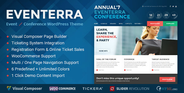 Eventerra - Event / Conference WordPress Theme