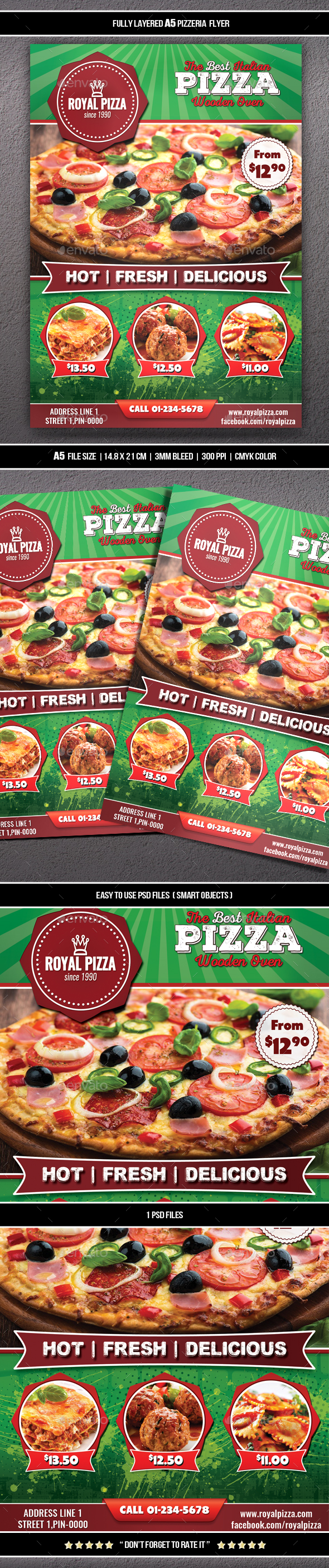 Pizzeria Flyer (A5) - Restaurant Flyers