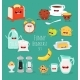Breakfast Set. Comic Characters. Vector - GraphicRiver Item for Sale
