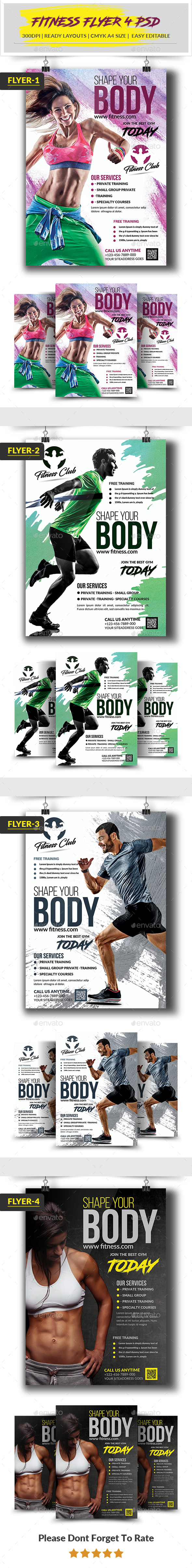 GraphicRiver Fitness Flyer 20482137