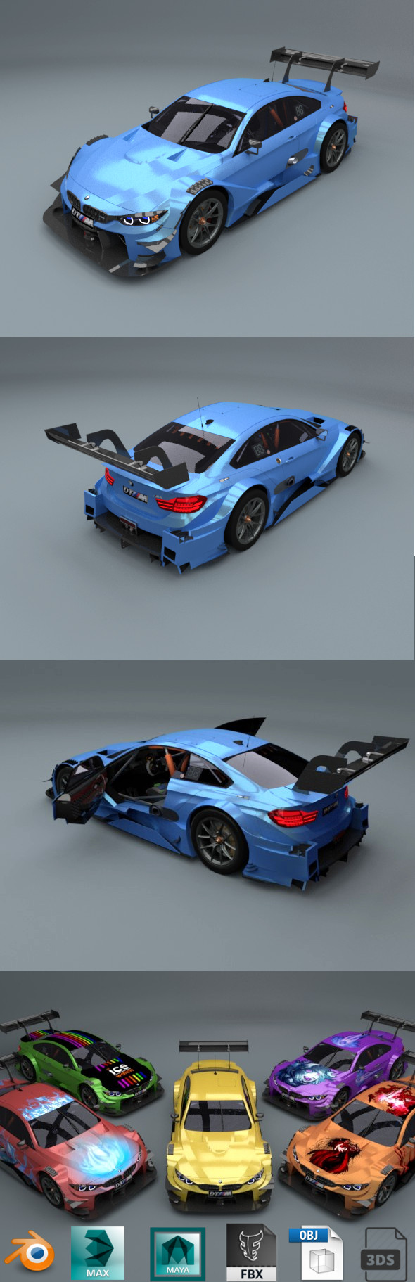 3DOcean bmw m4 dtm 2017 low poly car 20482143