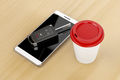 Smartphone, car key and coffee - PhotoDune Item for Sale