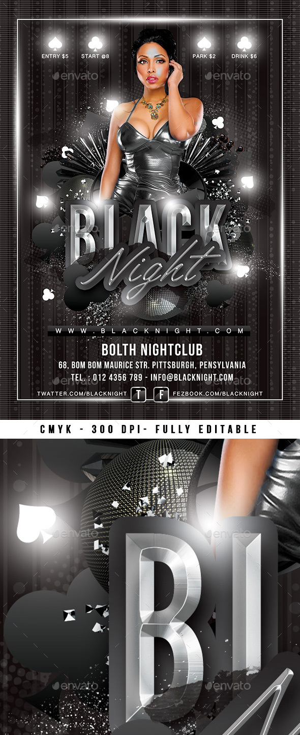 Black Night Party - Events Flyers