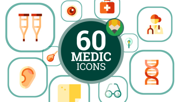 Medicine Medical Hospital Healthcare Animation - Flat Icons and Elements