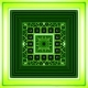 Abstract Infinite Green Tunnel From Fractal Cubes