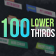 100 Lower Thirds - VideoHive Item for Sale