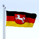 Animated Lower Saxony German State Flag - 3DOcean Item for Sale