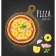 Set of Italian Pizza on Wooden Boards. 9 Items - GraphicRiver Item for Sale