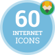 Internet Communication Discussion Connection Animation - Flat Icons and Elements