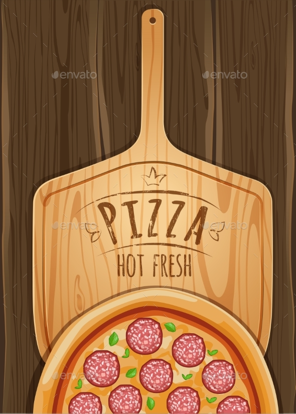 GraphicRiver Set of Italian Pizza on Wooden Boards 9 Items 20482368