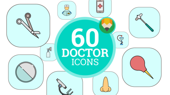 Doctor Medical Hospital Health Medicine Animation - Flat Icons and Elements
