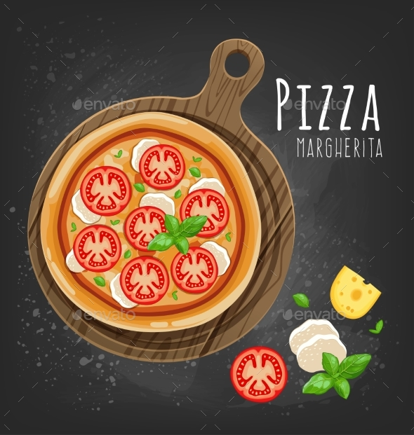 GraphicRiver Set of Italian Pizza on Wooden Boards 9 Items 20482375
