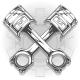 Double Graphic Black Car Engine Piston - GraphicRiver Item for Sale