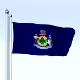Animated Maine Flag - 3DOcean Item for Sale
