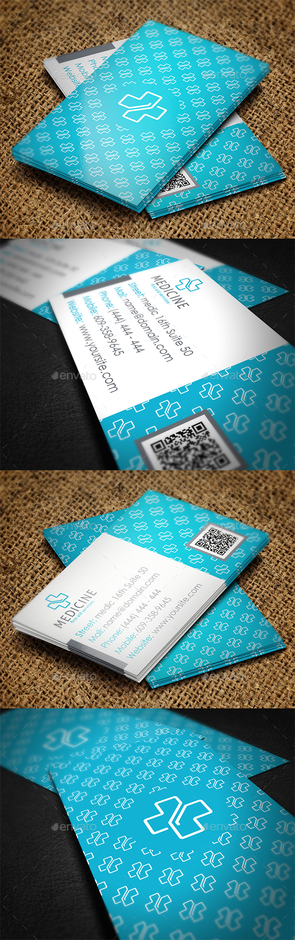 Medicine Business Card - Industry Specific Business Cards