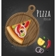 Set of Italian Pizza on Wooden Boards. 9 Items