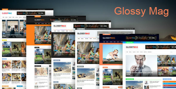 Glossy Mag - News & Magazine Blogger Theme