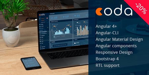 Coda - Angular 4+ Bootstrap 4 Admin Theme