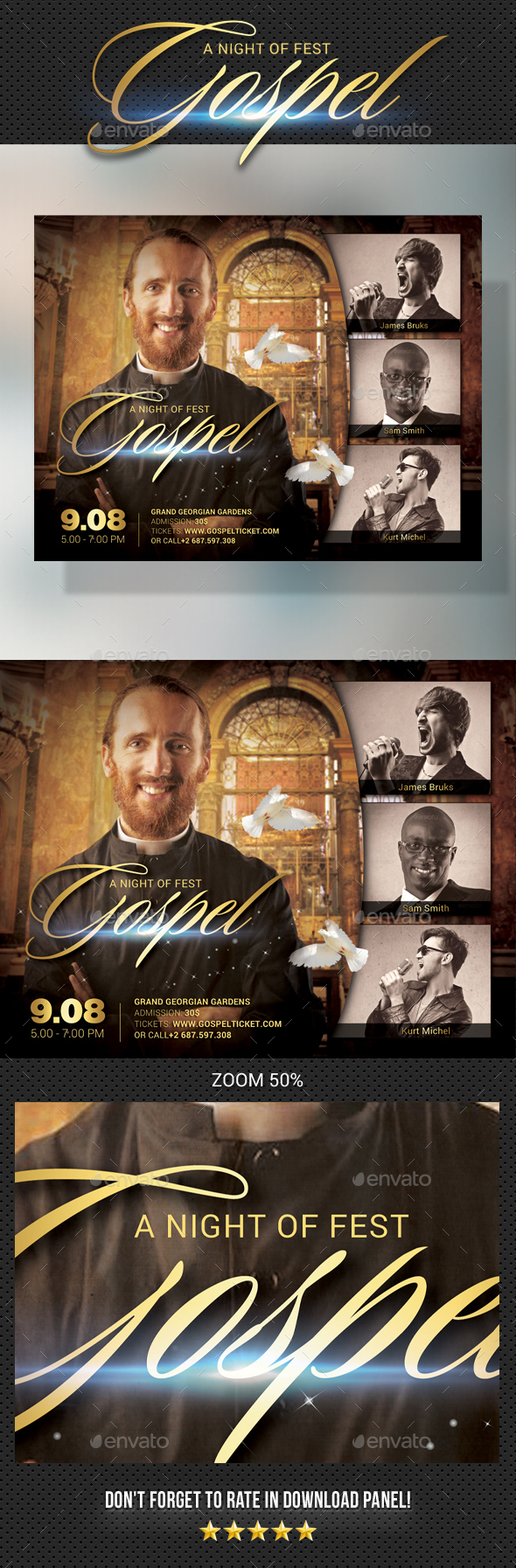 Gospel Flyer V2 - Church Flyers