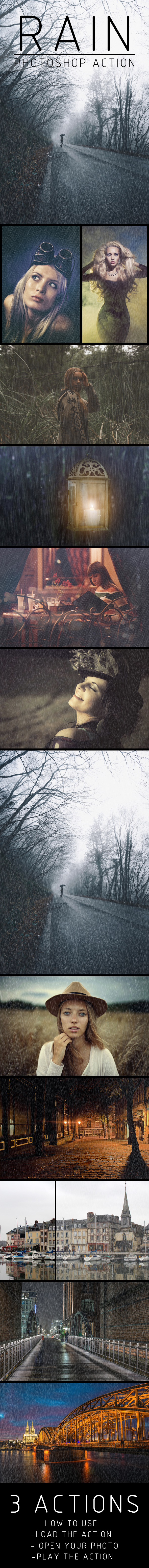 Rainy Day Photoshop Actions - Photo Effects Actions