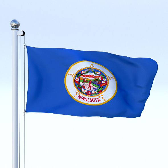 Animated Minnesota Flag - 3DOcean Item for Sale