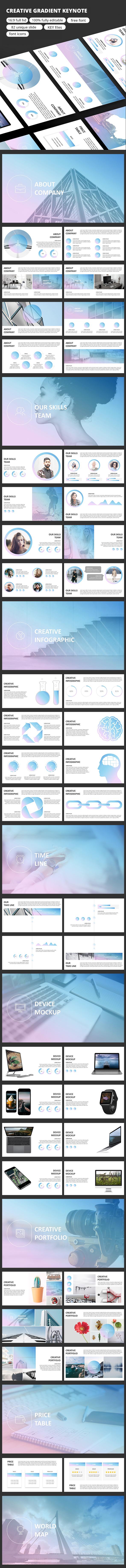 Creative Gradient - Keynote Presentation - Business Keynote Templates