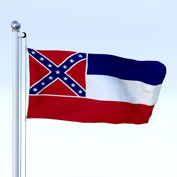 Animated Mississippi Flag - 3DOcean Item for Sale
