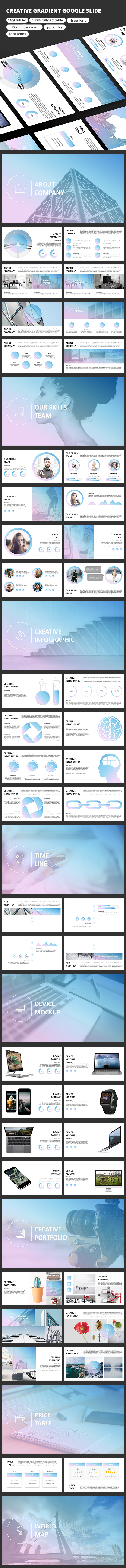 Creative Gradient - Google Slide - Google Slides Presentation Templates