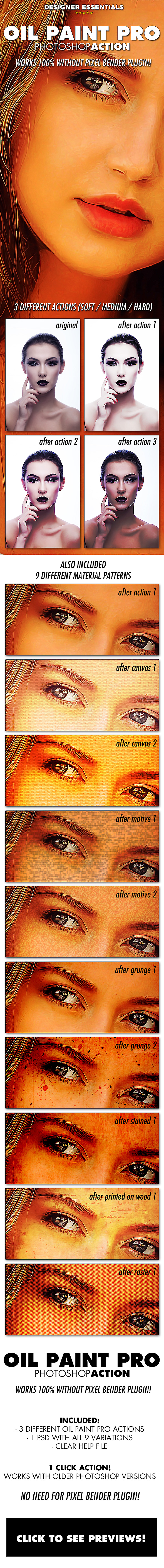 Oil Paint Pro (no pixelbender needed!) - Photo Effects Actions